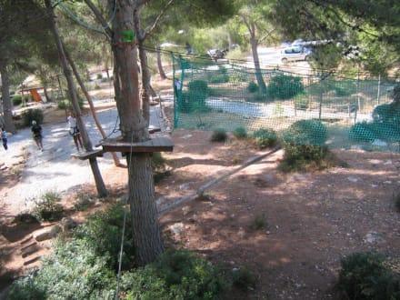 Teil des Höhengartens - Jungle Parc Aventuras
