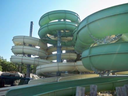 Meterlange Rutschen - Troy Aqua Park