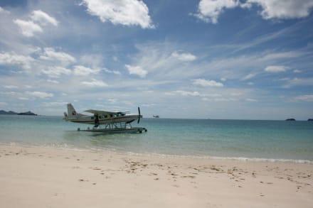 Wasserflugzeug Whitehaven Beach - Flug über Great Barrier Reef