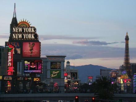 Der Strip in der Dämmerung - Las Vegas Strip