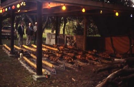 Der Barbecue für die Kongress-Teilnehmer - Henderson-Weingüter