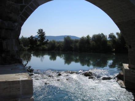 Blick unter die Brücke - Aspendosbrücke