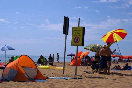 Hinweisschilder sollte man Beachten - Strand Bibione