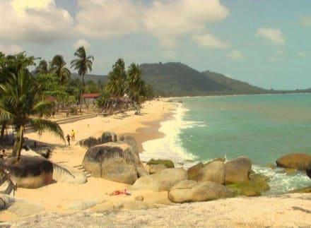 Am Strand von Lamai - Strand Lamai Beach