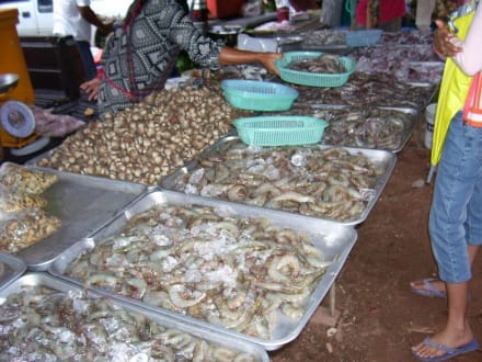 Sehr frische Ware - Markt Bang Niang Beach