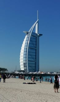 An der Kite Beach mit Blick zum Burj Al Arab - Burj Al Arab