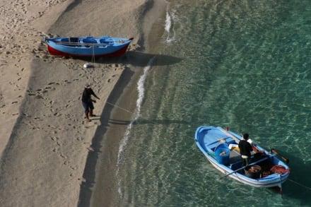 Fischer am Strand von Tropea - Strand Tropea