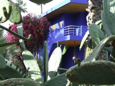 Das blaue Gebäude - heute Museum im Garten. - Garten Majorelle