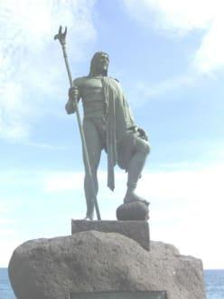Guanchen Statuen. Tequeste - Statuen der Guanchenkönige