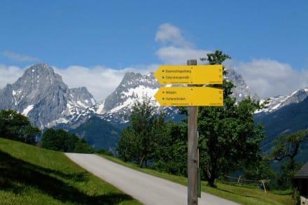 Gut ausgebaute und beschilderte Wanderwege - Vorderstoder