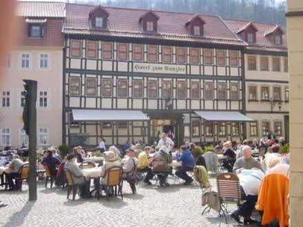Marktplatz in Stolberg - Altstadt Stolberg (Harz)