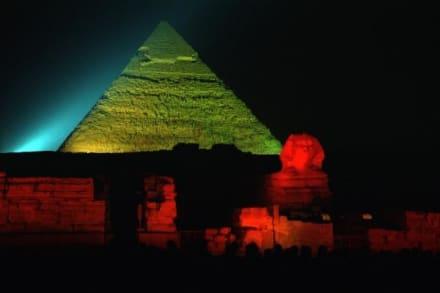 Nachts an den Pyramiden - Chephren Pyramide