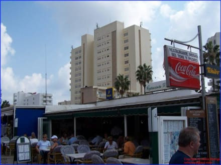 Blick auf Hotelburg - Strand Cala Millor