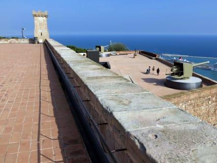 Im Hintergrund das Meer - Castell de Montjuïc