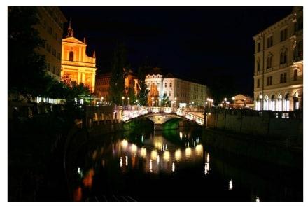 Abendstimmung in Ljubljana - Altstadt Ljubljana/Laibach