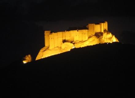 Arabische Burg bei Nacht - Ruine Palmyra