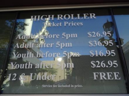 Die Preise Sind Heftig Bild Riesenrad The High Roller In Las Vegas