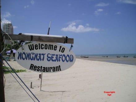 Der Hinweis zu unserem Stammlokal - Nongnat Seafood Restaurant