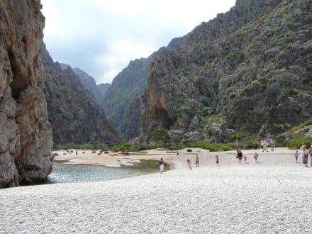 Schlucht von Sa Calobra - Bucht Sa Calobra / Torrent de Pareis