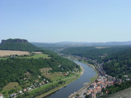 Blick auf Elbe und Lilienstein - Festung Königstein