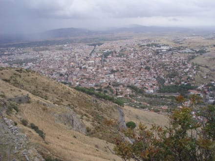 Blick von Pergamon auf die Stadt Bergama - Pergamon