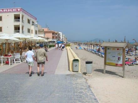Zum Spaziergang einladend - Strand Can Picafort