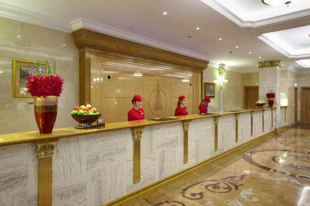 Reception at Radisson Royal Hotel, Moscow -