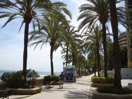 Die Strandprommenade von Marbella, - Strandpromenade Marbella