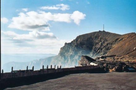 Rauchschwaden am Nindirí - Nindiri Vulkan