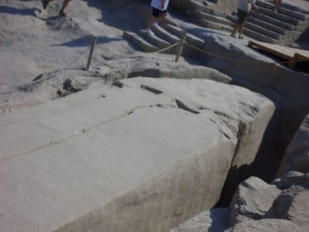Detail der Spitze - Steinbruch - Unvollendeter Obelisk