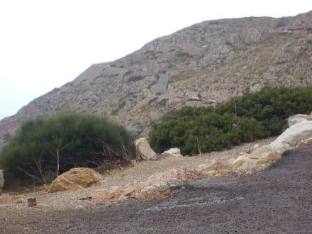 Weg zum Kap , man sehe genau hin, siehe Straße - Cap Formentor