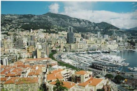 Blick über Monaco - Yachthafen Monaco