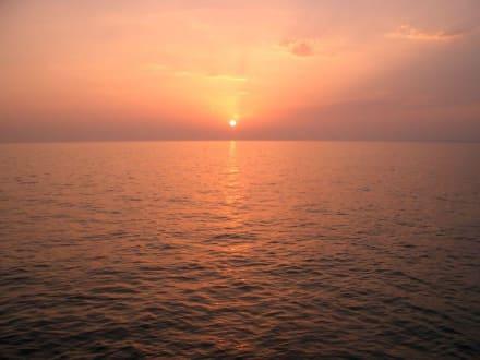 Sonnenuntergang am Hafen von Side - Hafen Side