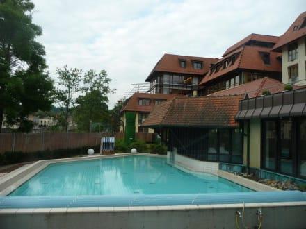 Das Aussenbecken vom Solebad - Ringhotel Hohenlohe