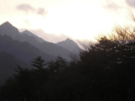 Seoraksan Nationalpark am Abend - Seoraksan Nationalpark