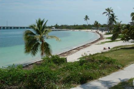 Ausblick auf den Badestrand - Bahia Honda Key State Park
