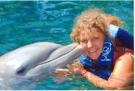 """mit Delphin in"""" Xcaret"""" - Freizeitpark Xcaret"""