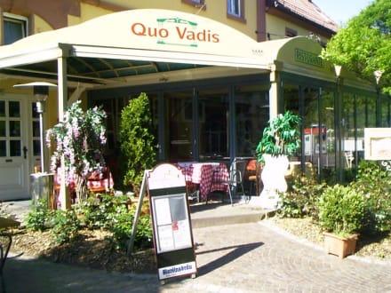 Eingang des Lokals - Ristorante Quo Vadis