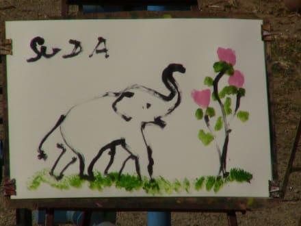 Original vom Elefanten gemalt - Goldenes Dreieck