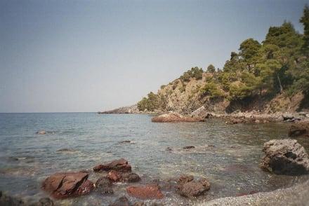 Klippen von Vlachia - Strand Vlachia