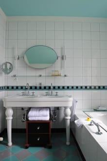 Badezimmer im Art Deco Stil - Art Deco Hotel Montana Luzern
