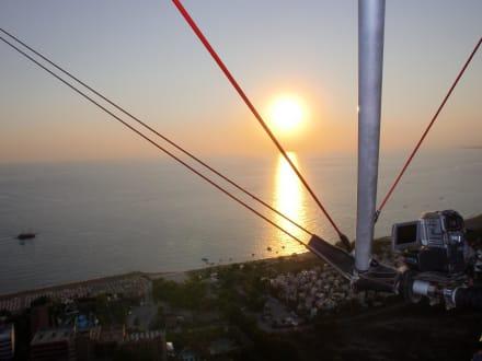 Flug in den Sonnenuntergang - Blue Sky Microlight