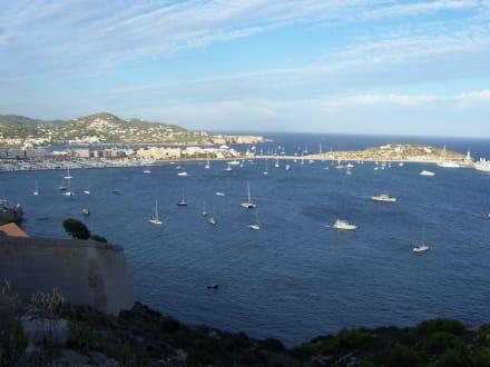 Blick auf den Hafen - Altstadt Dalt Vila Ibiza