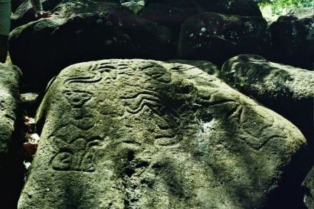 Petroglyphe bei der Finca Magdalena - Petroglyphen von Ometepe