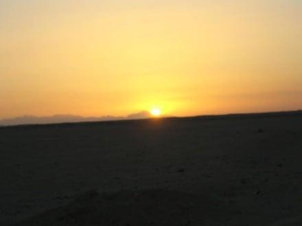 Sonnenuntergang nach der Quad-Tour - Quad Tour Hurghada
