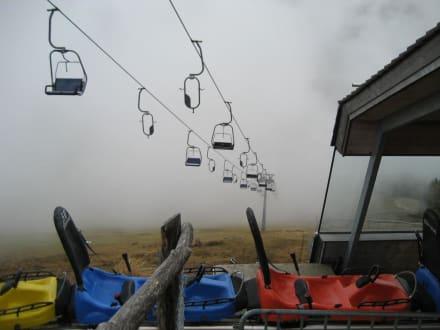 Cooler Ausblick trotz Nebel - Rodelbahn Todtnau
