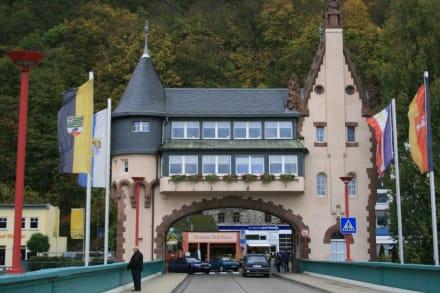Gaststätte in historischem Brückentor - Brückenschänke in Möhrings Brückentor