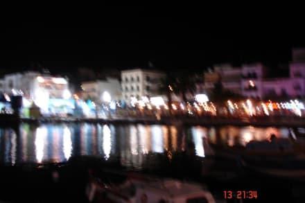Agios Nikolaos - Hafen bei Nacht - Hafen Agios Nikolaos