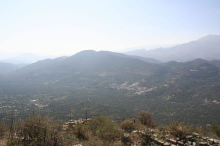 Das antike Driros - auf dem Gipfel - Antikes Driros