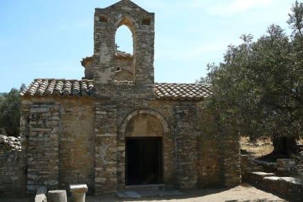 Die Vorderseite der Diosoritis - Kapelle Diosoritis